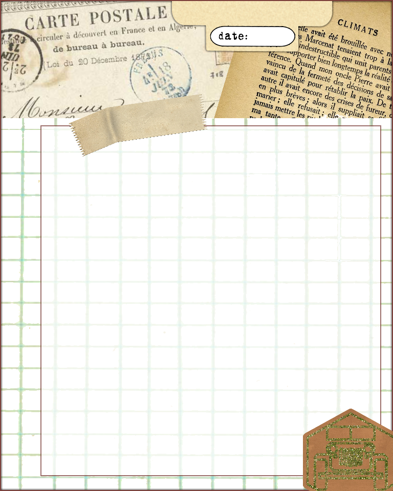 Delicate image with journal pages printable