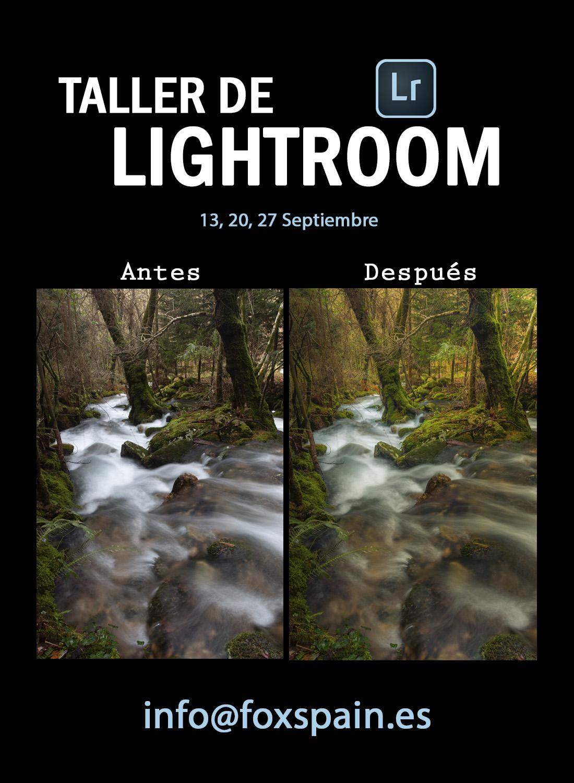 Taller de Lightroom en Vigo / Septiembre 2018 - Foxspain Fotografía