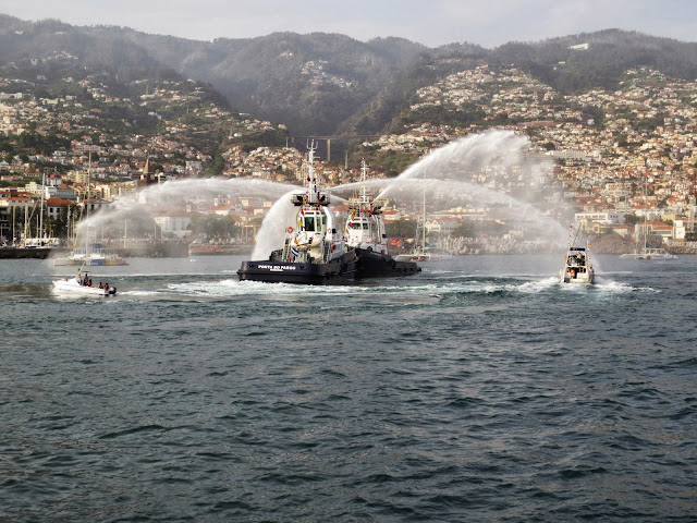 "tug ""fight"" in a Funchal port anniversary"