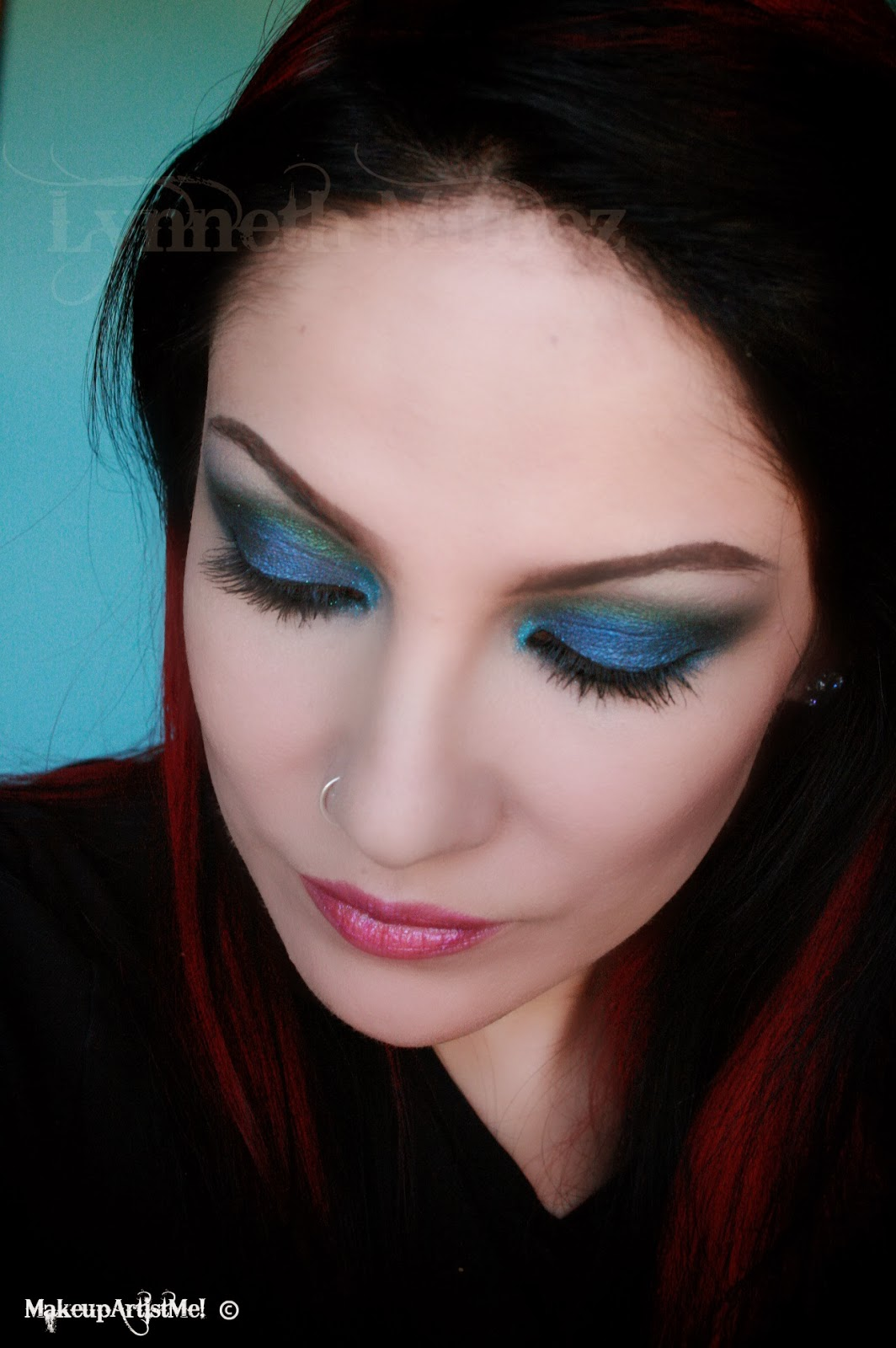 Make Up Application: Make-up Artist Me!: Peacock Stare