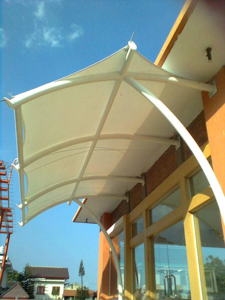 tenda kanopi mengunankan membrane dan atap tenda membrane