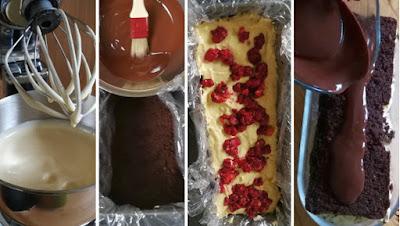 Zubereitung Schoko-Peanutbutter-Himbeer-Kuchen