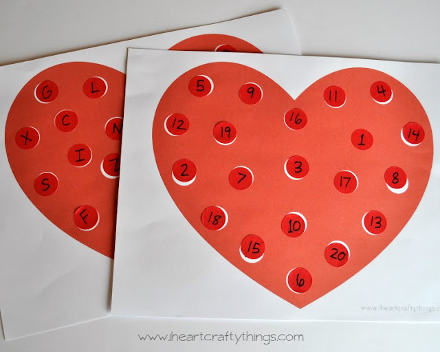 Valentine's Day Alphabet Dot Sticker Matching