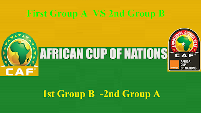 First Group A  VS 2nd Group B ** 1st Group B  -2nd Group A African Nations Cup 2017 Gabon (Quarterfinals) Saturday 28 Jan 2017