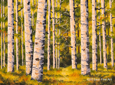 aspen tree paintings for sale