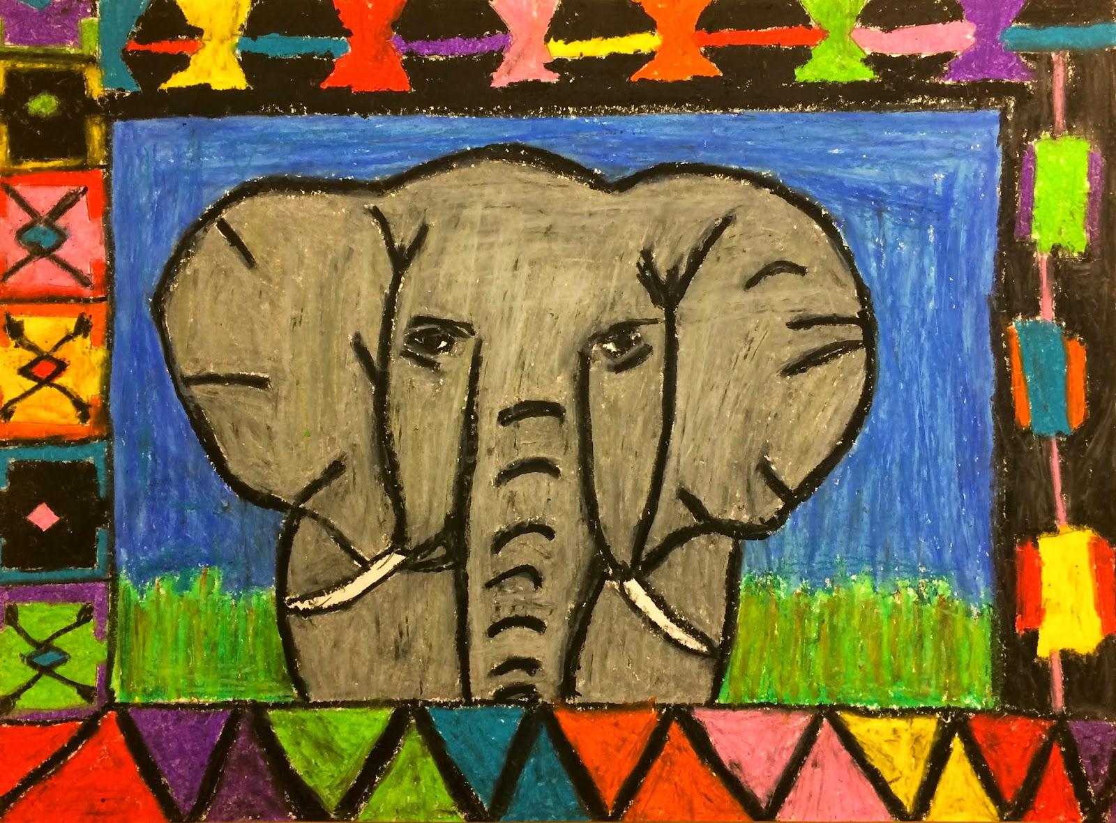 Art. Eat. Tie Dye. Repeat.: 5th Grade African Animals