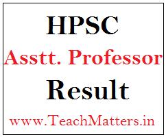 image : HPSC Assistant Professor (College Cadre) Result, Cut-off Marks 2021 @ TeachMatters