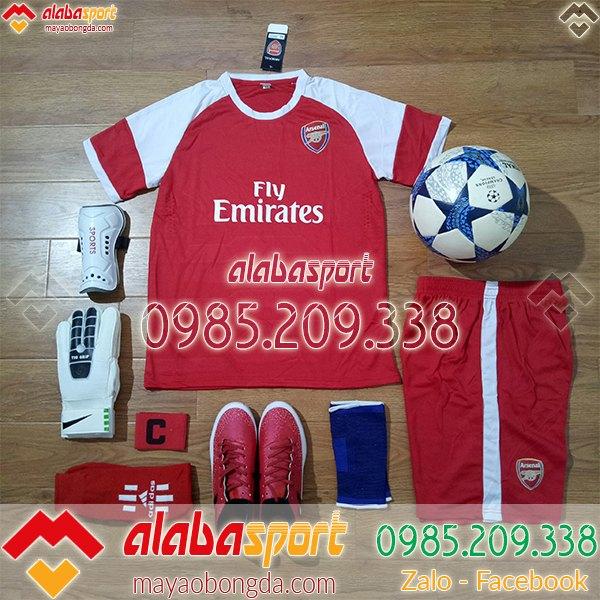 mẫu áo bóng đá câu lạc bộ arsenal màu đỏ 2019
