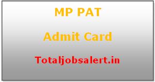 MP PAT Admit Card