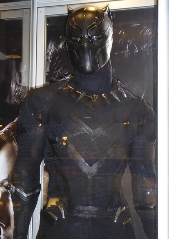 Hollywood Movie Costumes and Props Chadwick Bosemanu0026#39;s Black Panther costume from Captain ...
