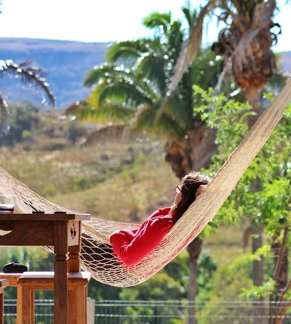 Descansando na Casa África, em Alto Paraíso.