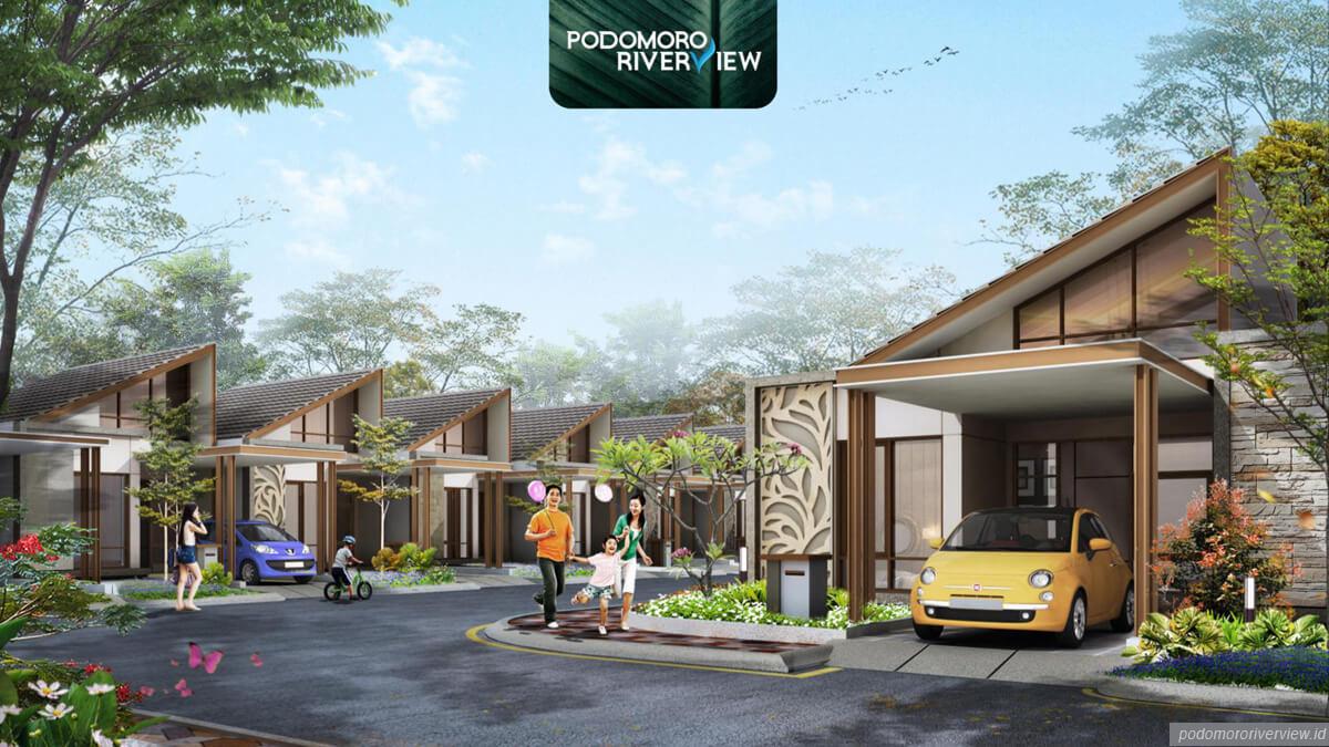 Cluster Juniper, Rumah Baru Podomoro River View Dijual Rp. 888 Jutaan