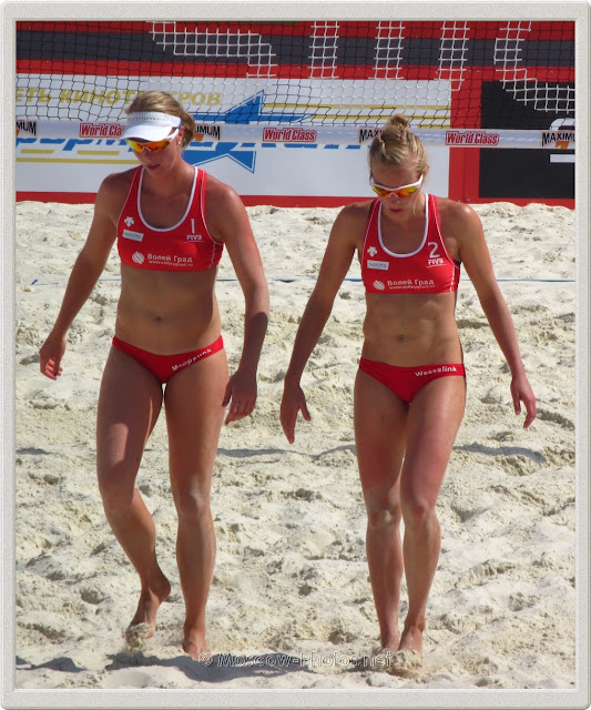 Beach Volley Players Madelein Meppelink & Marloes Wesselink