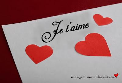 Message d'amour beau pour dire je t'aime