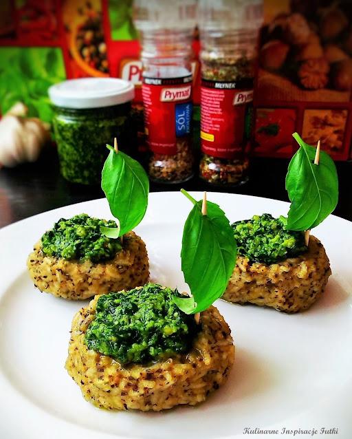Łódeczki ryżowe z zielonym pesto