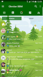 BBM MOD Fution Chat Green v3.3.1.24 APK