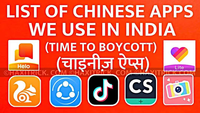 List of Chinese Apps We Use in India 2020 and Their Alternative