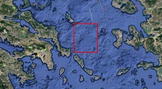 NAVTEX, δέσμευσε την περιοχή μεταξύ Σκύρου, Ψαρών και Ευβοίας