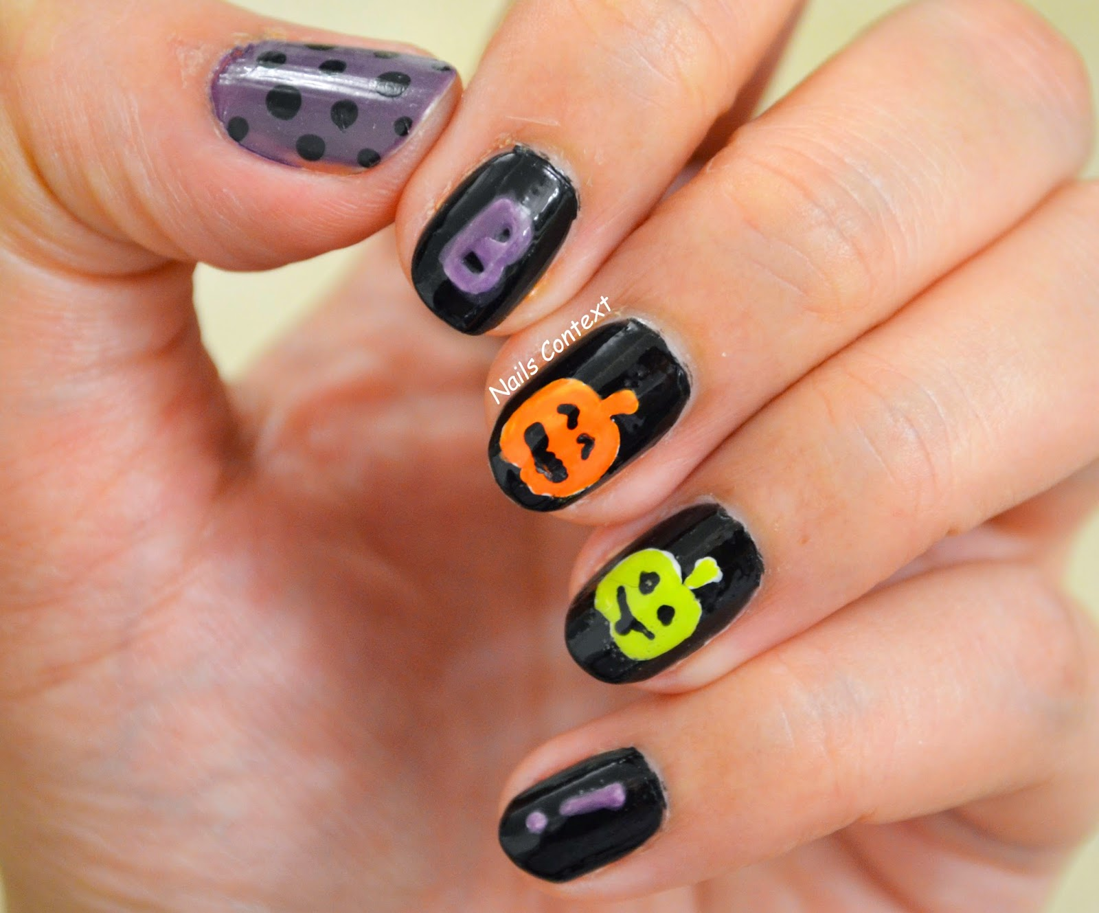 Nails Context: Halloween Series: BOO!