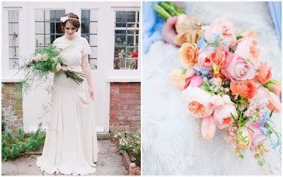 Bouquet em forma de braçada