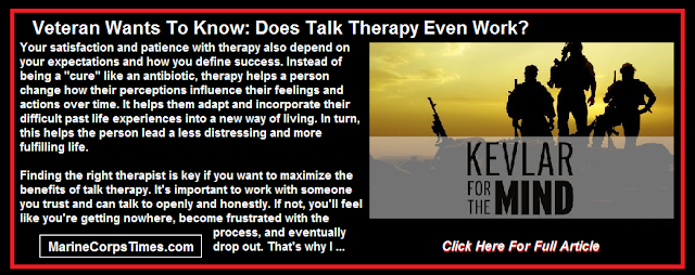 Veteran wants to know: Does talk therapy even work?