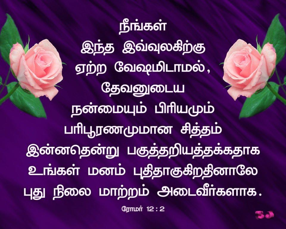 Free Christian Wallpapers: Tamil Bible Verse Wallpaper