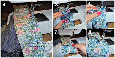 DIY szorty na lato z obszyciami na nogawkach