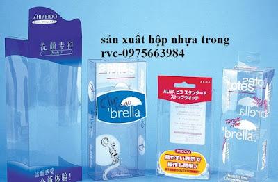 Sản xuất hộp nhựa trong PET PVC theo yêu cầu