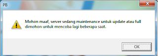 Mohon maaf, server sedang maintenance untuk update atau full dimohon untuk mencoba lagi beberapa saat
