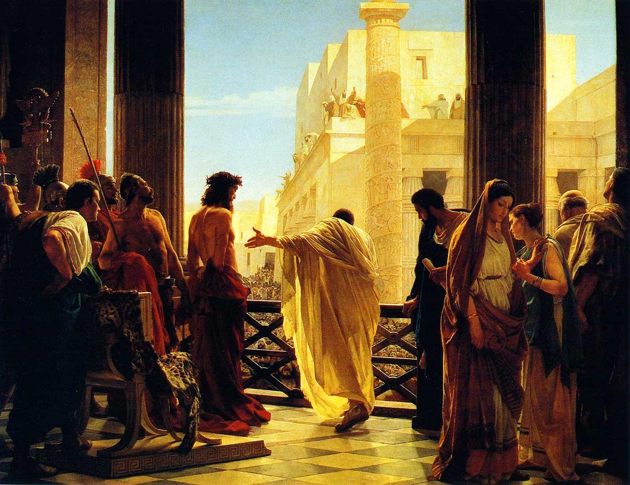Pôncio Pilatos que julga Jesus
