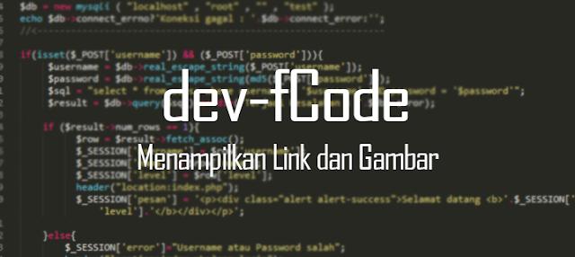 myfcode - Membuat Link Alamat dan Menampilkan Gambar pada HTML