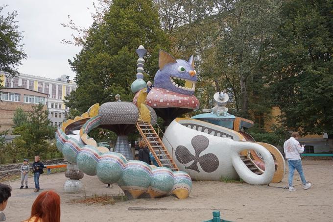 Kiovan Landskape Alley - veikeä näköalapolku ja leikkipaikat sopii lapsille ja aikuisille