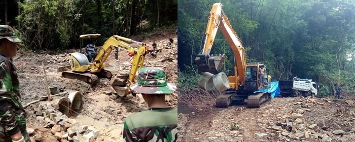 Satgas TMMD Ke 104, Bersatu Warga Membangun Gorong-gorong Penghubung di Dua Desa di Kec Tompobulu