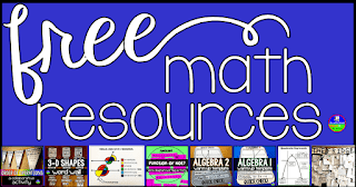 In this post are links to free math resources from Scaffolded Math and Science, including math word walls, math pennants, math cheat sheets and other fun activities.