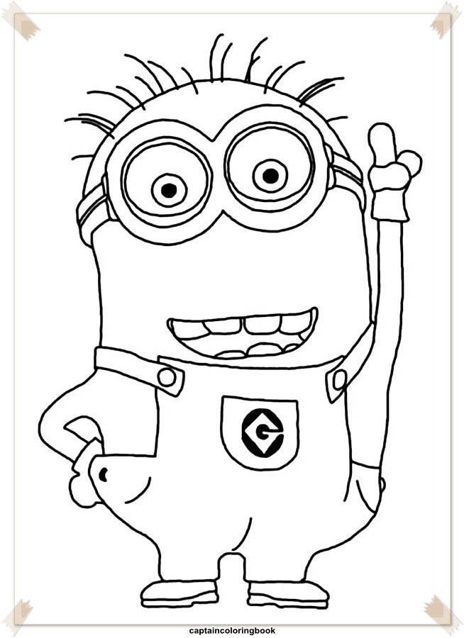 Minions Coloring Pages Free Coloring Page
