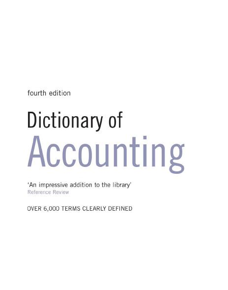 Dictionary of Accounting « Free Computer, Management