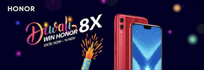Win Honor 8X and Band 3 for Diwal