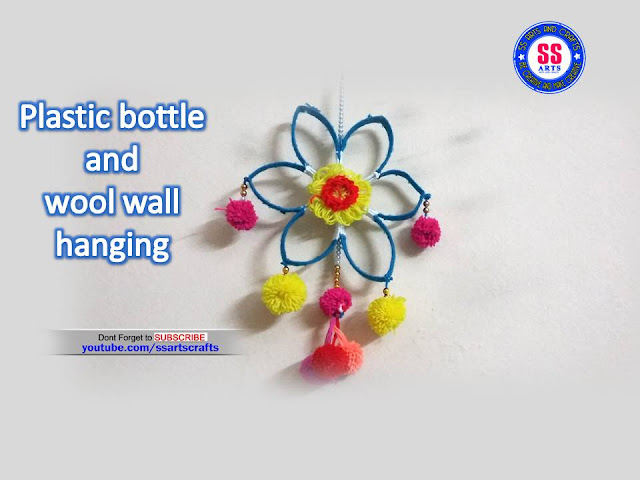 Here is plastic bottle wall hangings,plastic bottle show pieces,plastic bottle room decor ideas,plastic bottle pets making,plastic bottle crafts,upcycle crafts,recycled crafts,how to reuse plastic bottle crafts,plastic bottle wind chime,kids crafts,best out of waste crafts,woolen crafts,pom pom crafts,how to make plastic bottle and woolen wall hanging ssartscrafts youtube channel videos