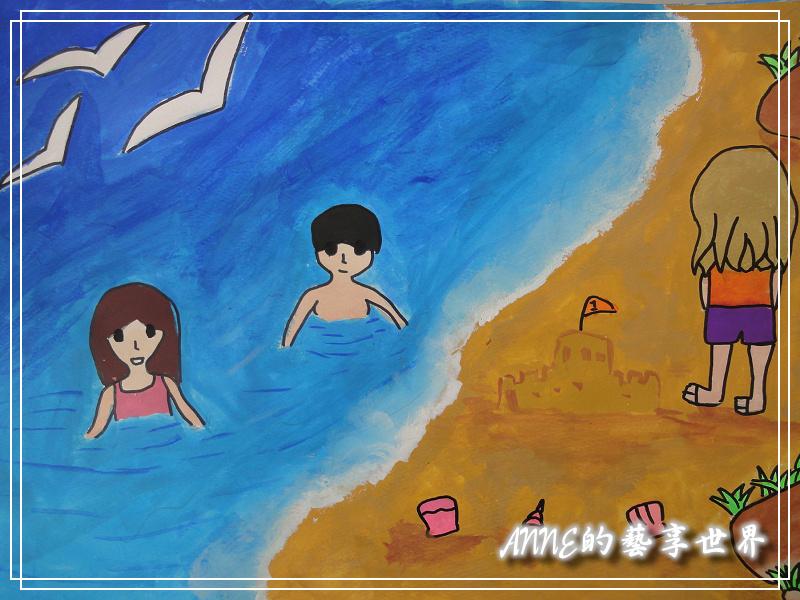 ANNE的美勞教學藝享世界: 海洋風情畫(水彩畫)