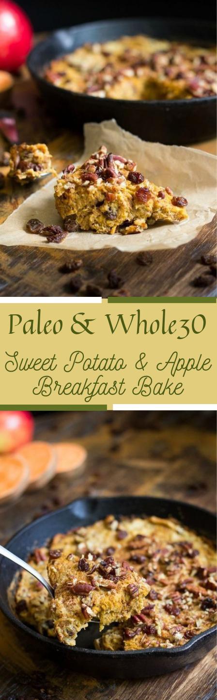 Sweet Potato Apple Breakfast Bake #recipe #diet