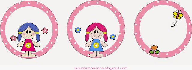 Dolls: Free Printables Wrappers and Toppers.