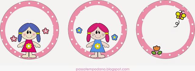 Muñecas: Wrappers y Toppers para Cupcakes para Imprimir Gratis.