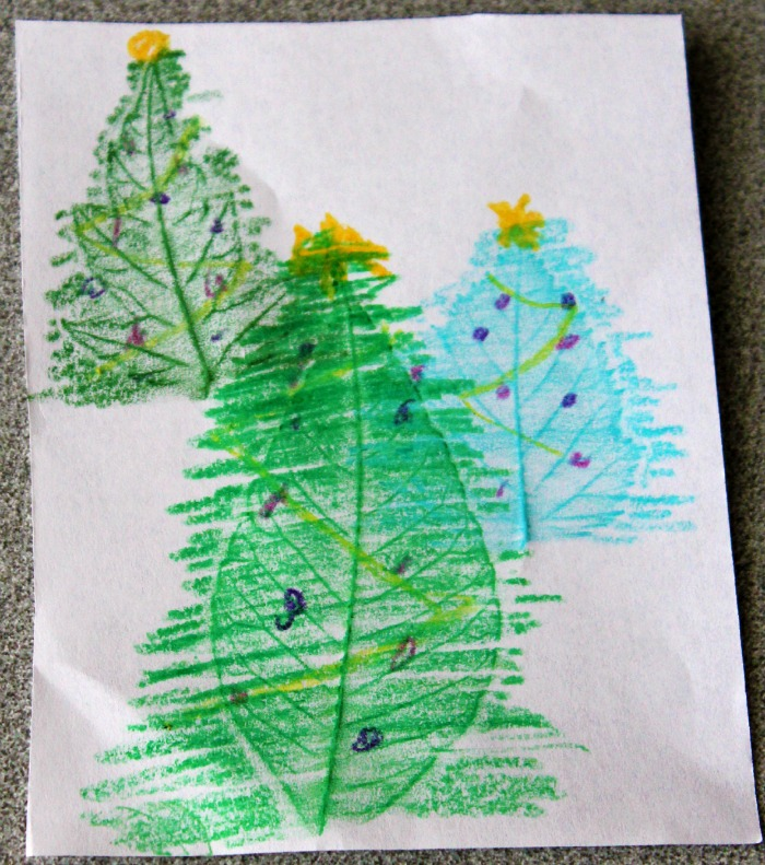 handmade Christmas tree cards