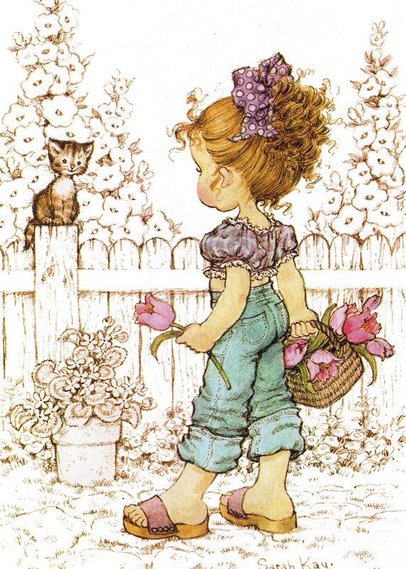 Desenho de Sarah Kay - Colhendo Flores