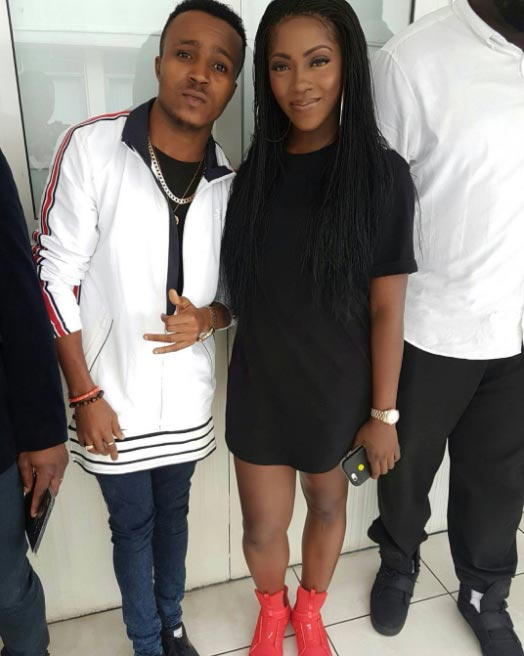Humblesmith poses with rapper Mr. Raw & Tiwa Savage