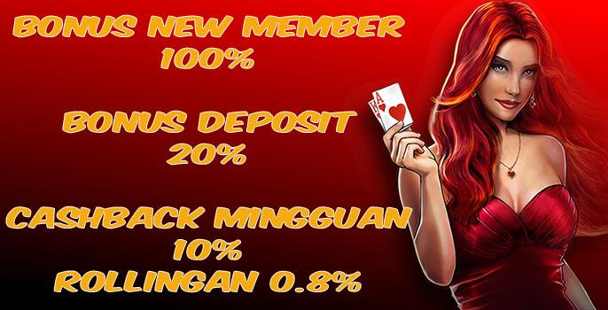 promo judi online, bonus member baru, bonus deposit, cashback mingguan, bonus rollingan