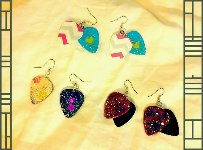 Random Guitar Pick Earrings