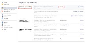Merubah Privasi Facebook