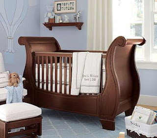 Viking Sleigh Crib for Viking Themed Nursery