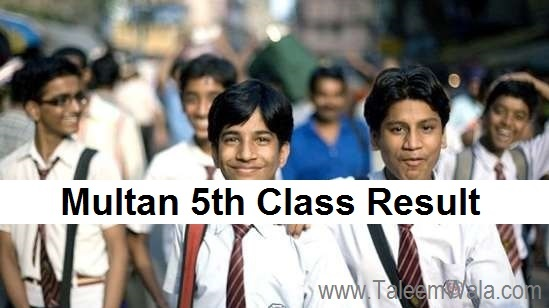 Multan 5th Class Result 2019 - BISE PEC Multan Board 5th Results